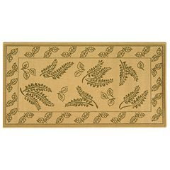 Safavieh Courtyard Ferns Framed Indoor Outdoor Rug