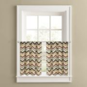 Colordrift Chevron Quilt 2-pk. Tier Curtains