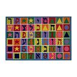 Fun Rugs Fun Time Hebrew Numbers & Letters Rug