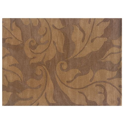 Linon Florence Leaf Wool Rug