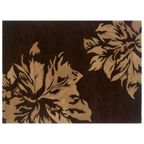 Linon Florence Floral Wool Rug