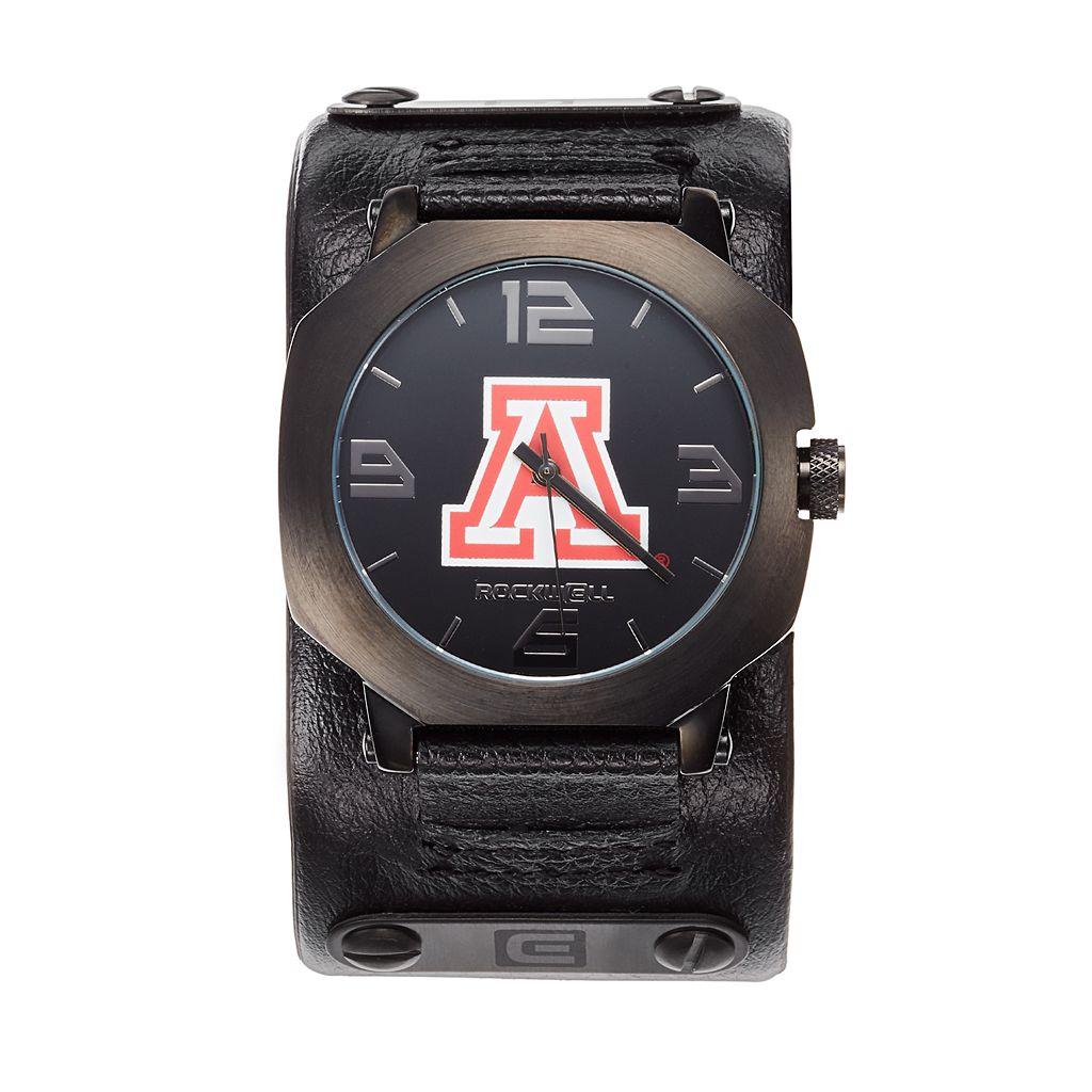 Rockwell Arizona Wildcats Assassin Leather Watch - Men