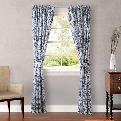 Laura Ashley 2-pack Lifestyles Amberley Window Curtains - 87'' x 54''