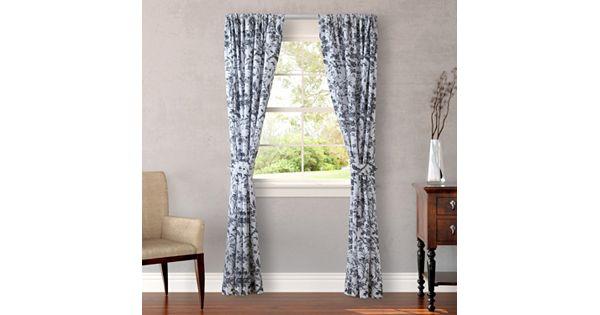 Laura Ashley Lifestyles Amberley 2 Pk Curtains 87 X 54