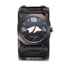 Rockwell Arkansas Razorbacks Assassin Leather Watch - Men