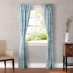 Laura Ashley 2-pack Lifestyles Rowland Window Curtains - 87'' x 54''