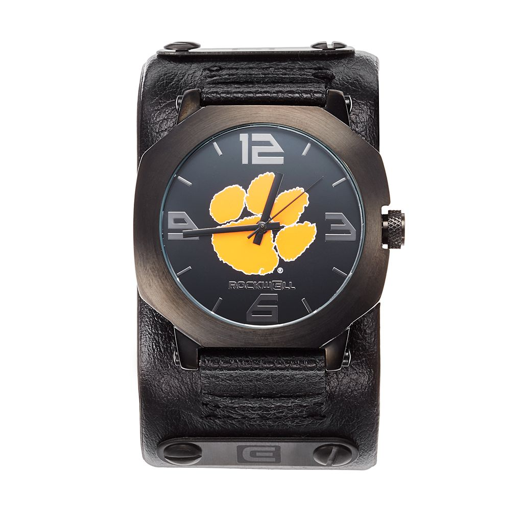 Rockwell Clemson Tigers Assassin Leather Watch - Men