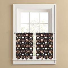 Colordrift Buffalo Roam 2-pk. Tier Curtains