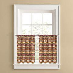 Colordrift Desert Stripe 2-pk. Tier Curtains