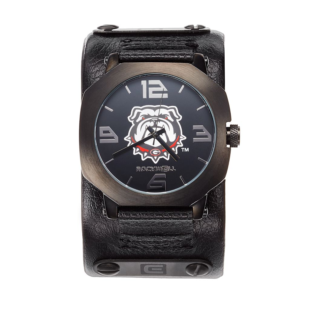 Rockwell Georgia Bulldogs Assassin Leather Watch - Men