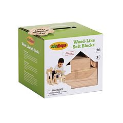 Edushape 30 pc Wood-Like Soft Blocks