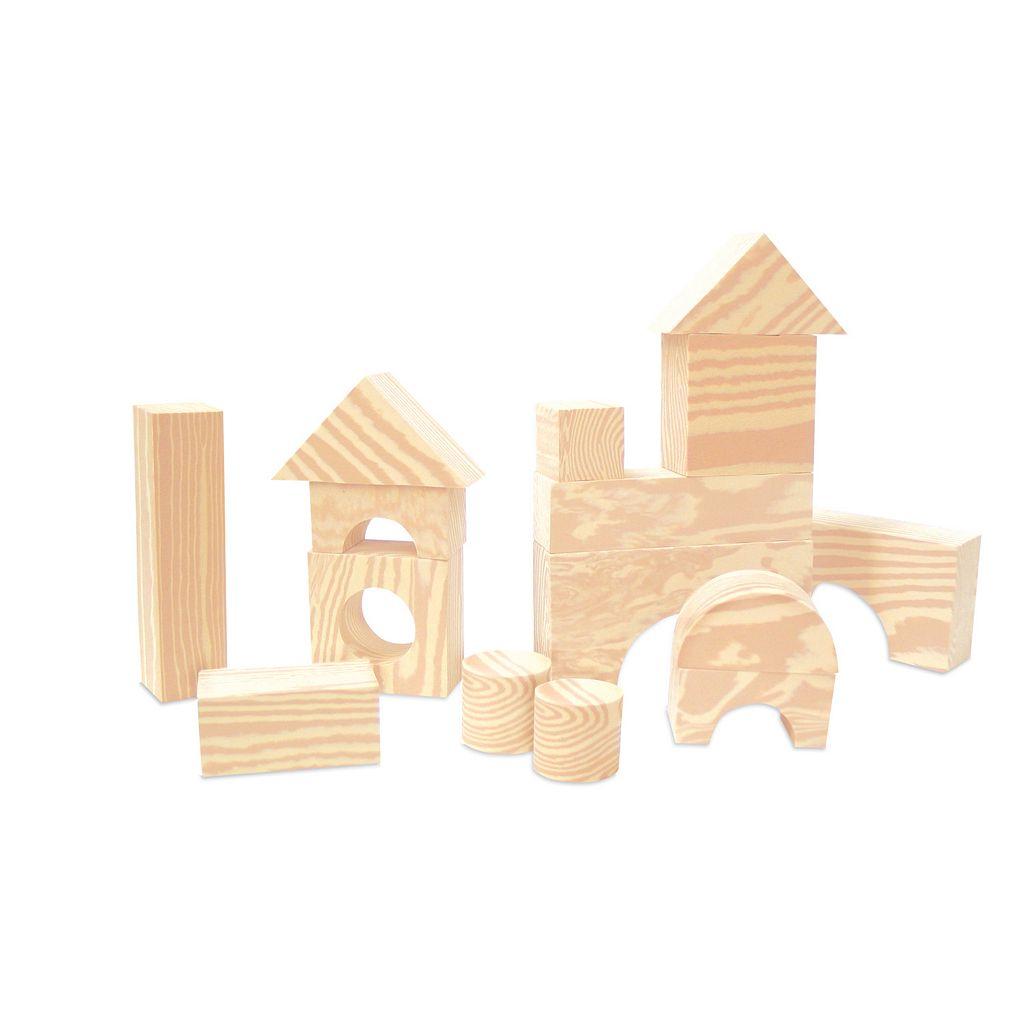 Edushape 30-pc. Wood-Like Soft Blocks