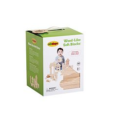 Edushape 80 pc Wood-Like Soft Blocks
