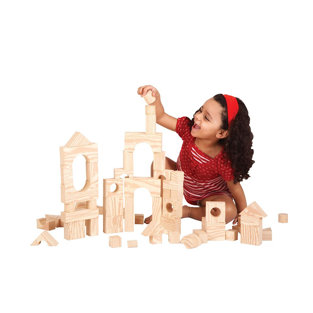 Edushape 80-pc. Wood-Like Soft Blocks
