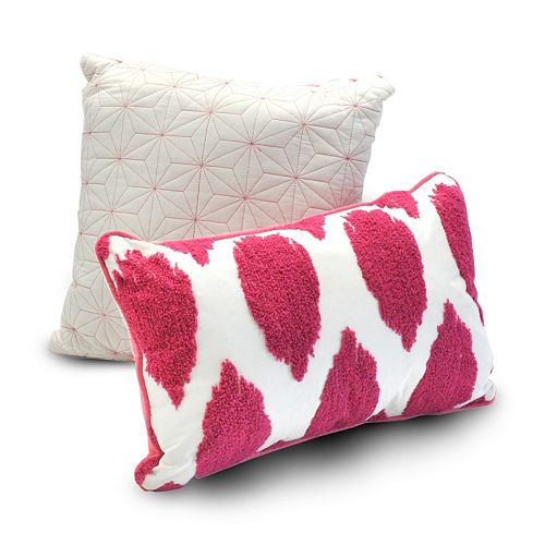 Seventeen 2-piece Deliah Ikat Throw Pillow Set