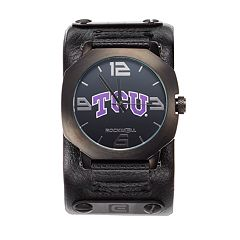 Rockwell TCU Horned Frogs Assassin Leather Watch - Men