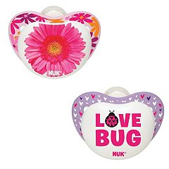 NUK 2 Pack 'Love Bug' Pacifiers