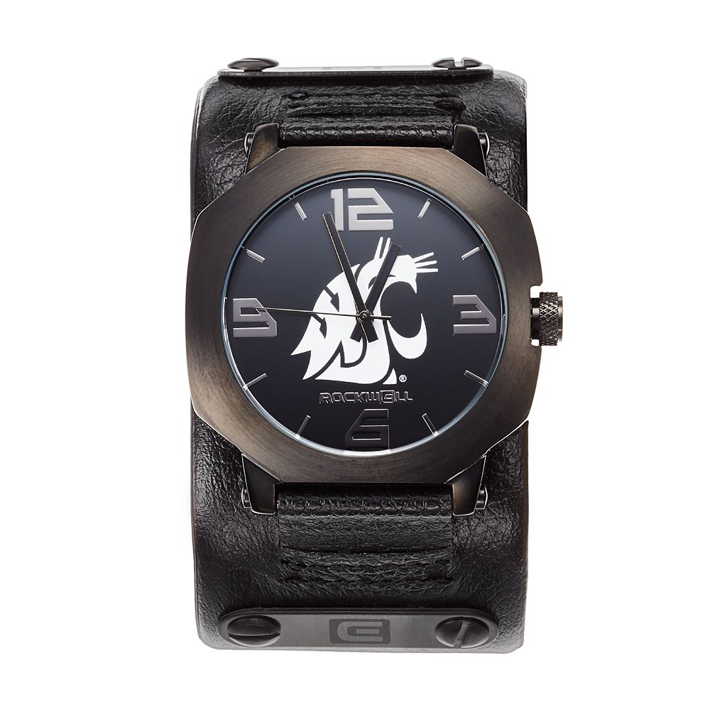 Rockwell Washington State Cougars Assassin Leather Watch - Men