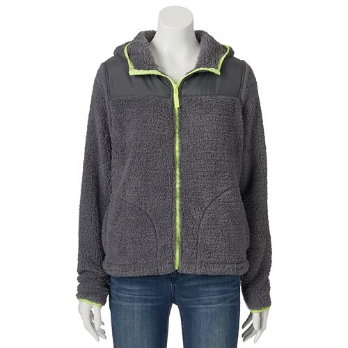 Juniors' SO® Sherpa Hoodie Zip Jacket