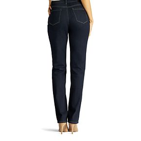 Petite Lee Monroe Classic Fit High Waisted Straight-Leg Jeans