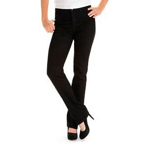 792e1379c86a9 Petite Simply Vera Vera Wang Everyday Luxury Straight-Leg Midrise Jeans