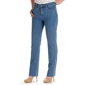 fc9c8a67 Women's Lee Instantly Slims High Waisted Straight-Leg Jeans