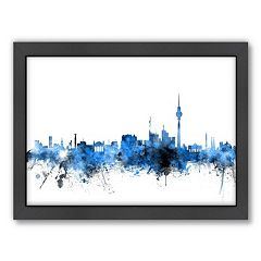 Americanflat Michael Tompsett ''Berlin Skyline'' Framed Wall Art