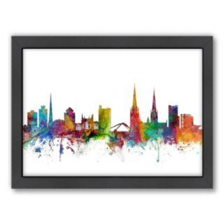 Americanflat Michael Tompsett ''Coventry Skyline'' Framed Wall Art