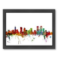 Americanflat Michael Tompsett ''Denver, Colorado Skyline'' Framed Wall Art