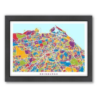 Americanflat Michael Tompsett ''Edinburgh Street Map'' Framed Wall Art