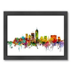Americanflat Michael Tompsett ''Indianapolis, Indiana Skyline'' Framed Wall Art