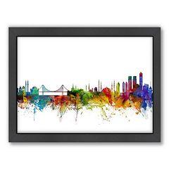 Americanflat Michael Tompsett ''Istanbul Skyline'' Framed Wall Art