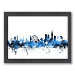Americanflat Michael Tompsett ''London Skyline'' II Framed Wall Art
