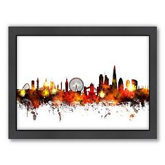 Americanflat Michael Tompsett ''London Skyline'' II Framed Wall Art