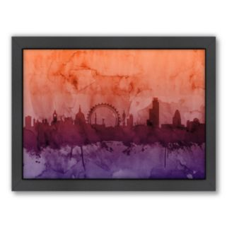 Americanflat Michael Tompsett ''London Skyline'' III Bright Framed Wall Art
