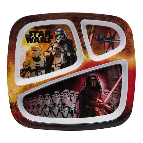 Star Wars: Episode VII The Force Awakens Kid's Divided Melamine Plate