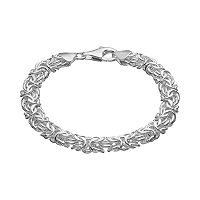 Sterling Silver Interlocking Circle Link Bracelet