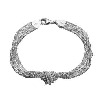 Sterling Silver Multi Strand Knot Bracelet