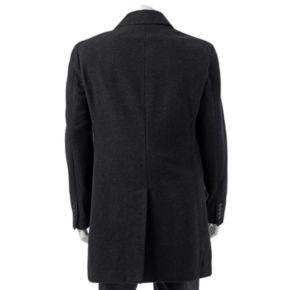 Men's Chaps Classic-Fit Charcoal Wool-Blend Coat