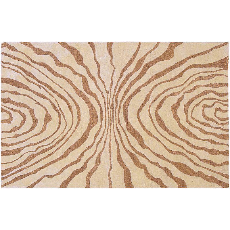 Decor 140 Studio Rowe Zebra Wool Rug, Beig/Green, 8X11 Ft