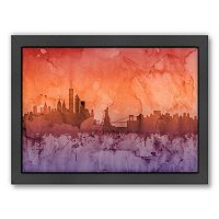 Americanflat Michael Tompsett ''New York Skyline'' Framed Wall Art