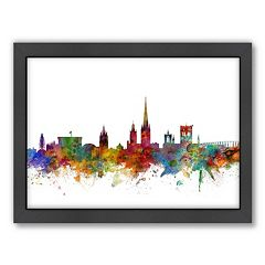 Americanflat Michael Tompsett ''Norwich Skyline'' Framed Wall Art