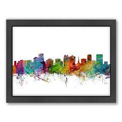 Americanflat Michael Tompsett ''Orlando, Florida, Florida Skyline'' Framed Wall Art