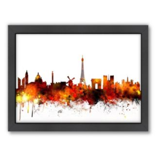 Americanflat Michael Tompsett ''Paris Skyline'' Framed Wall Art