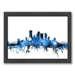 Americanflat Michael Tompsett ''Pittsburgh, Pennsylvania  Skyline' Framed Wall Art