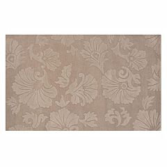 Linon Ashton Floral Brown Wool Rug