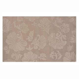 Linon Ashton Floral Brown Wool Rug