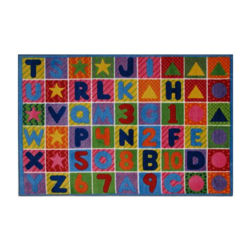 Fun Rugs Supreme Numbers & Letters Rug