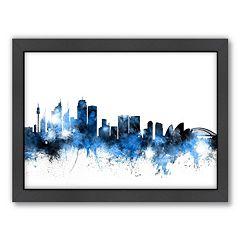 Americanflat Michael Tompsett ''Sydney Skyline'' Framed Wall Art