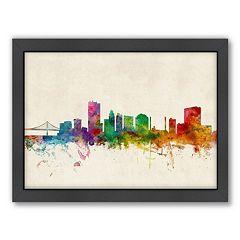 Americanflat Michael Tompsett ''Toledo, Ohio Skyline'' Framed Wall Art
